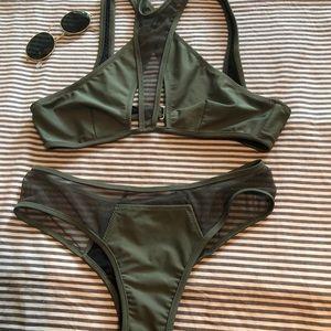 Nasty gal green bikini size small